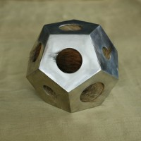 Aluminum Dodecahedron Sculpture by Edward Sudentas