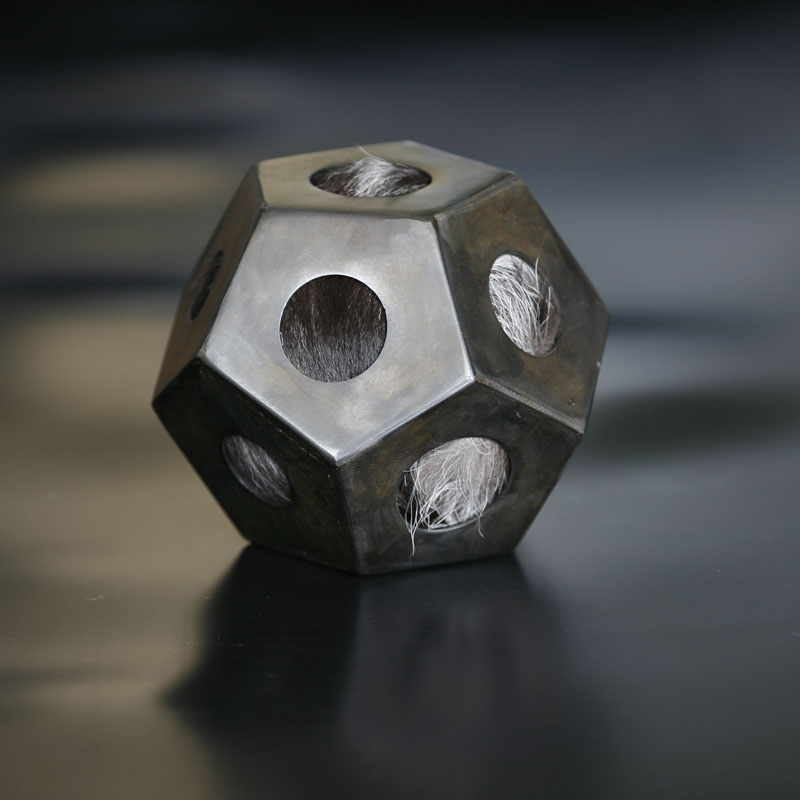 Steel Dodecahedron Sculpture by Edward Sudentas