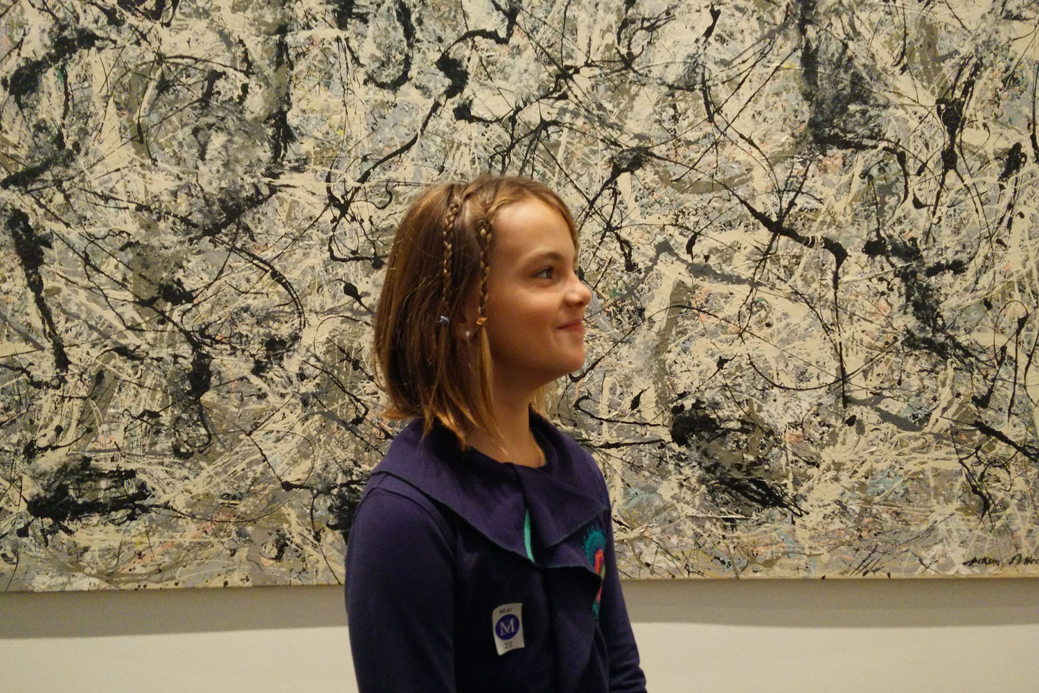 Met Museum - in front of Pollock