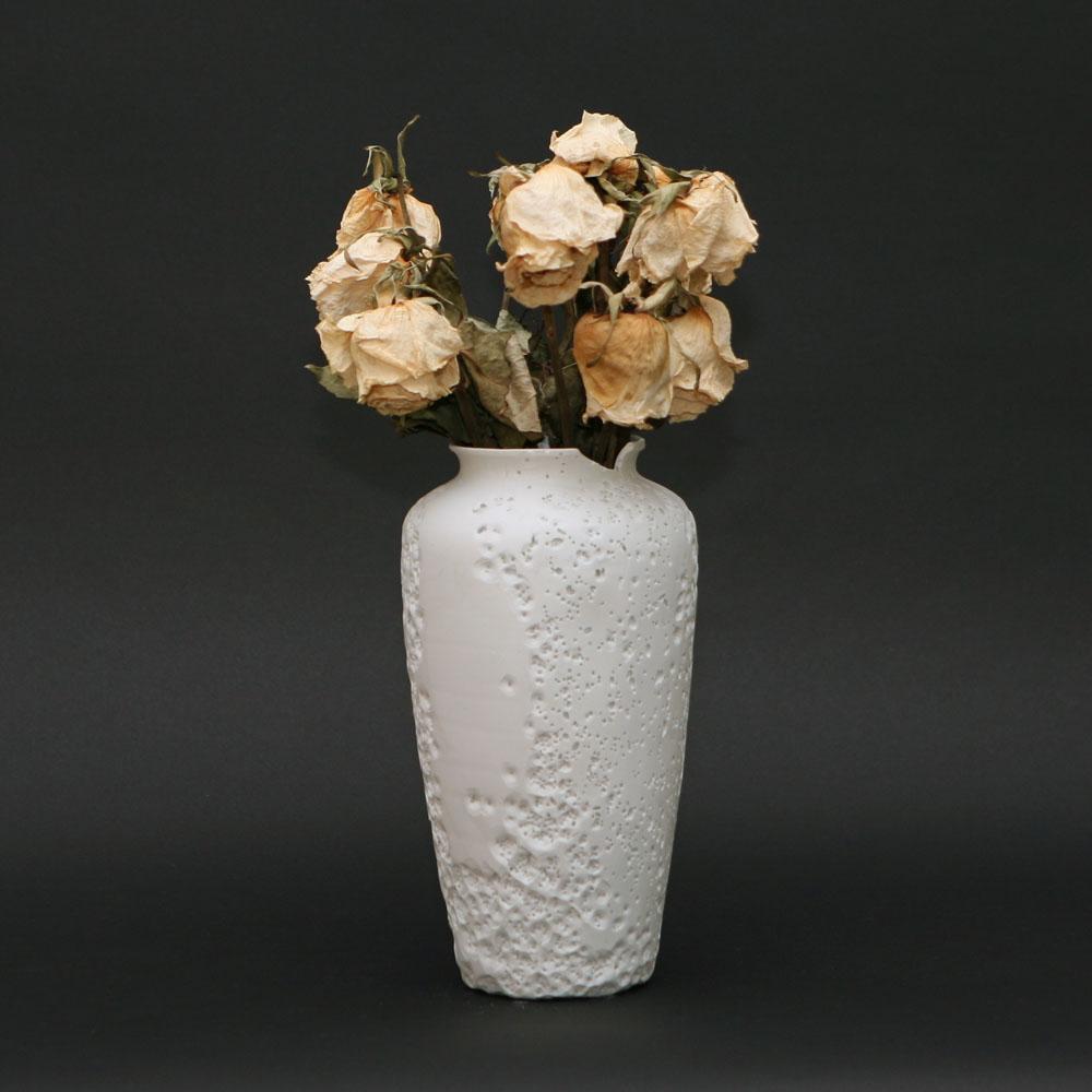 Unglazed porcelain vase